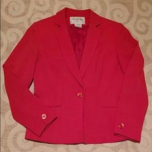 Cherry Red Power Suit Jacket